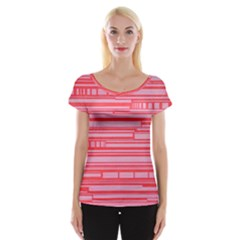 Index Red Pink Women s Cap Sleeve Top