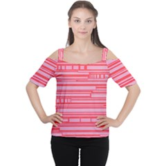 Index Red Pink Women s Cutout Shoulder Tee