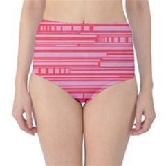 Index Red Pink High Waist Bikini Bottoms