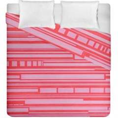 Index Red Pink Duvet Cover Double Side (king Size)