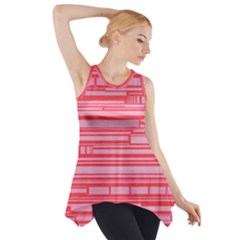 Index Red Pink Side Drop Tank Tunic