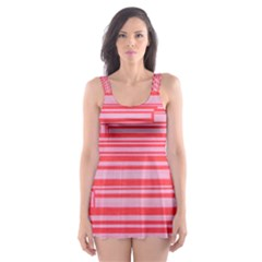 Index Red Pink Skater Dress Swimsuit