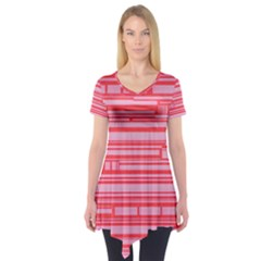 Index Red Pink Short Sleeve Tunic