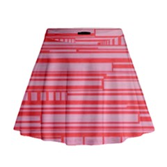 Index Red Pink Mini Flare Skirt
