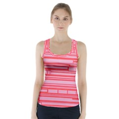 Index Red Pink Racer Back Sports Top