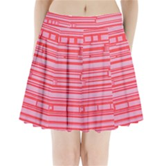 Index Red Pink Pleated Mini Skirt