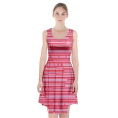 Index Red Pink Racerback Midi Dress