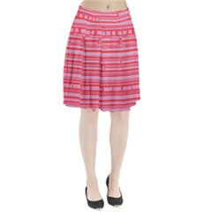 Index Red Pink Pleated Skirt