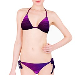 Purple Wallpaper Bikini Set