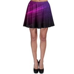 Purple Wallpaper Skater Skirt