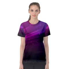 Purple Wallpaper Women s Sport Mesh Tee