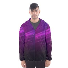 Purple Wallpaper Hooded Wind Breaker (men)