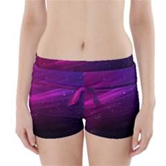 Purple Wallpaper Boyleg Bikini Wrap Bottoms