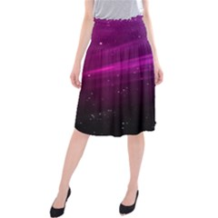 Purple Wallpaper Midi Beach Skirt