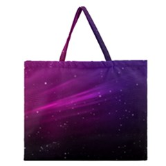 Purple Wallpaper Zipper Large Tote Bag