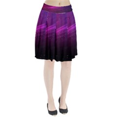 Purple Wallpaper Pleated Skirt