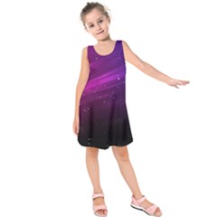 Purple Wallpaper Kids  Sleeveless Dress