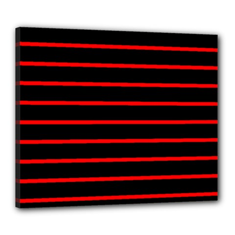 Red And Black Horizontal Lines And Stripes Seamless Tileable Canvas 24  X 20