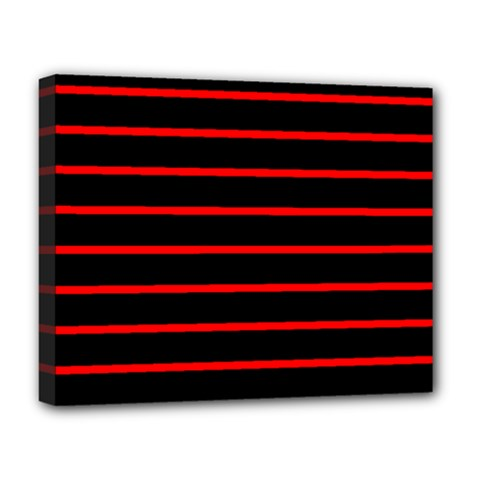 Red And Black Horizontal Lines And Stripes Seamless Tileable Deluxe Canvas 20  X 16