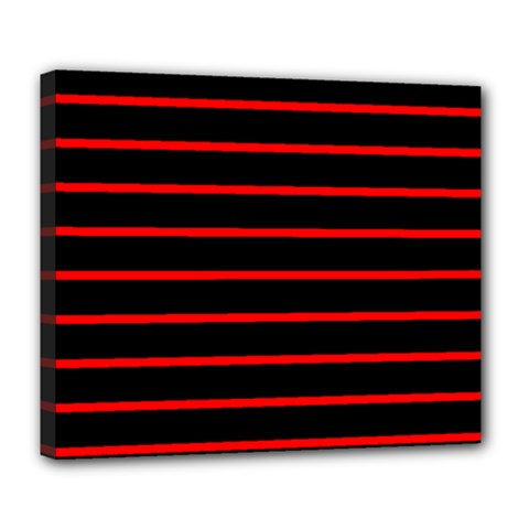 Red And Black Horizontal Lines And Stripes Seamless Tileable Deluxe Canvas 24  X 20