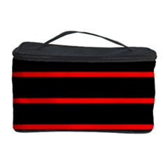 Red And Black Horizontal Lines And Stripes Seamless Tileable Cosmetic Storage Case