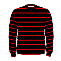 Red And Black Horizontal Lines And Stripes Seamless Tileable Men s Sweatshirt