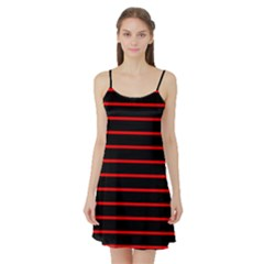 Red And Black Horizontal Lines And Stripes Seamless Tileable Satin Night Slip