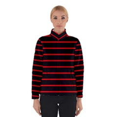 Red And Black Horizontal Lines And Stripes Seamless Tileable Winterwear