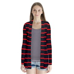Red And Black Horizontal Lines And Stripes Seamless Tileable Cardigans