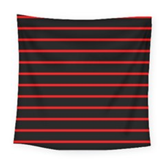 Red And Black Horizontal Lines And Stripes Seamless Tileable Square Tapestry (large)