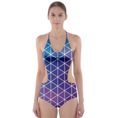 Neon Templates And Backgrounds Cut-Out One Piece Swimsuit