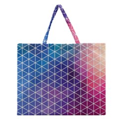 Neon Templates And Backgrounds Zipper Large Tote Bag