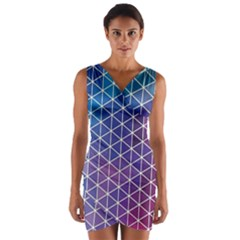 Neon Templates And Backgrounds Wrap Front Bodycon Dress