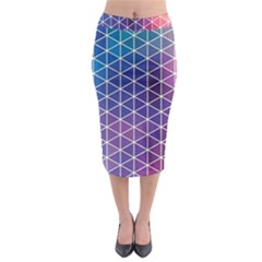 Neon Templates And Backgrounds Midi Pencil Skirt