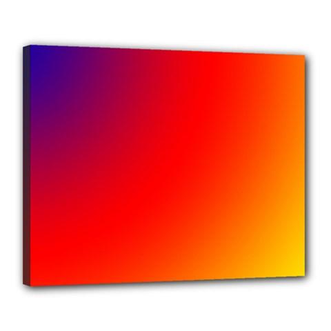 Rainbow Background Canvas 20  X 16