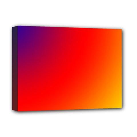 Rainbow Background Deluxe Canvas 16  X 12