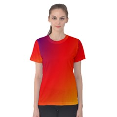 Rainbow Background Women s Cotton Tee