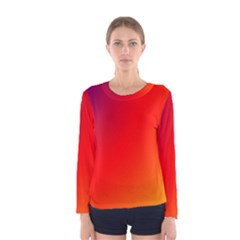 Rainbow Background Women s Long Sleeve Tee