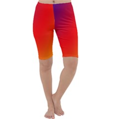 Rainbow Background Cropped Leggings