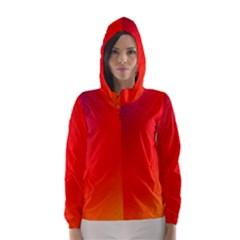 Rainbow Background Hooded Wind Breaker (women)