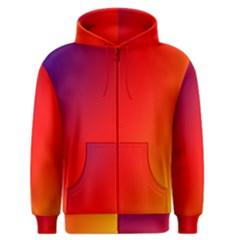 Rainbow Background Men s Zipper Hoodie