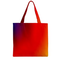 Rainbow Background Zipper Grocery Tote Bag