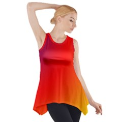 Rainbow Background Side Drop Tank Tunic