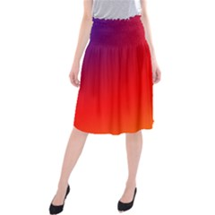 Rainbow Background Midi Beach Skirt