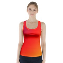 Rainbow Background Racer Back Sports Top