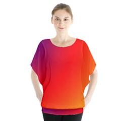 Rainbow Background Blouse
