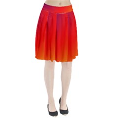 Rainbow Background Pleated Skirt