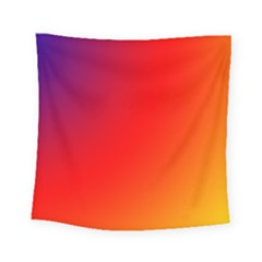 Rainbow Background Square Tapestry (small)