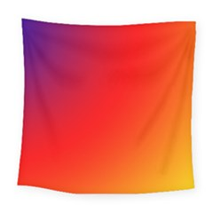 Rainbow Background Square Tapestry (large)