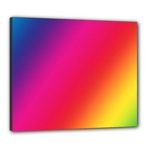 Rainbow Colors Canvas 24  X 20